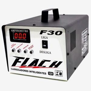 Carregador de Bateria Flach F30 30A 12V Bivolt