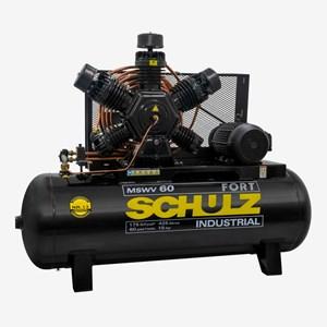 Compressor 15 HP 60 Pés 425 Litros 5 Pistões 175 Libras Trifásico MSWV60FORT/425LMTA Schulz