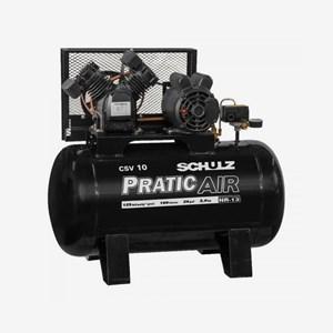 Compressor de Ar 2HP 10 Pés 100 Litros Monofásico Pratic Air Schulz