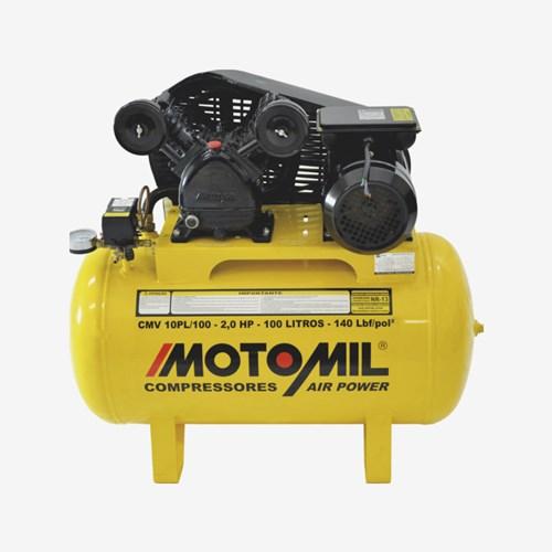 Compressor de Ar Air Power 2 HP Monofásico CMV 10PL 100 Litros Motomil