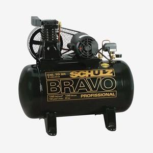 Compressor de Ar Bravo 2 HP Monofásico CSL10BR/100 Litros Schulz
