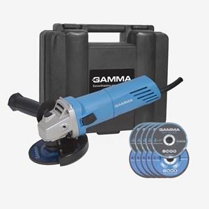 Esmerilhadeira Angular 4.1/2'' 750W G1910K/BR1 Gamma 110/220V C/ Maleta e Disco de Corte
