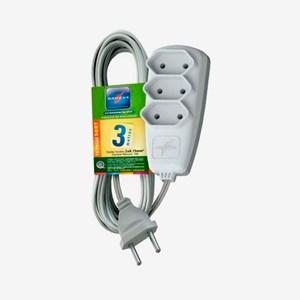 Extensão elétrica Sort 3m 3 tomadas 2P 10A 250V DN 1513 Daneva