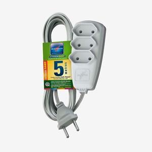 Extensão Elétrica Sort 5m 3 tomadas 2P 10A 250V DN 1514 Daneva
