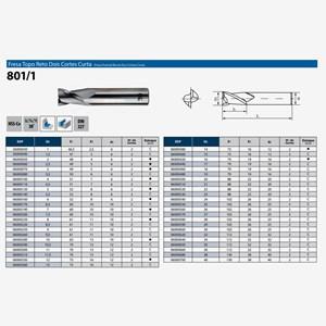 Fresa Topo Reto 1-40,00mm 2 Cortes HSS-CO DIN 801/1 OSG