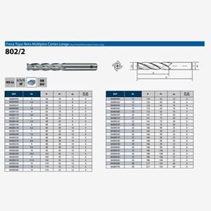 Fresa Topo Reto HSS-Co 2-20,00MM 4 Cortes Longa DIN 844 802/2 OSG