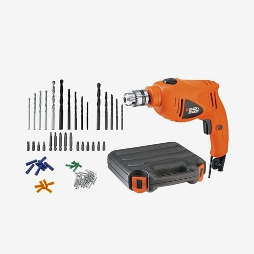 Furadeira de Impacto 550W 3/8'' HD400K50 Black+Decker 110/220V C/ 50 Acessórios