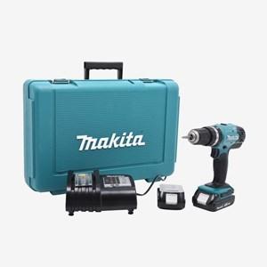 Furadeira/Parafusadeira de Impacto À Bateria DHP453SYE Makita C/ Maleta e Carregador Bivolt