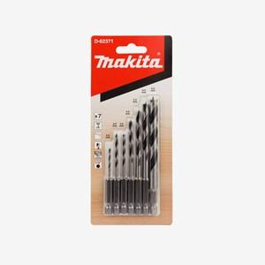 Jogo de 7 Brocas P/ Madeira Encaixe Sextavado D-62371 Makita