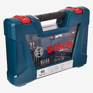 Jogo De Bits E Brocas Com 91 Peças V-Line Bosch