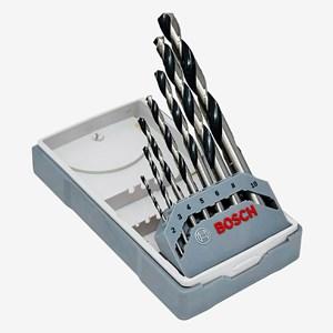 Jogo de Brocas Mini X-Line para Metal HSS PointTeQ 2 a 10mm com 7 Peças Bosch