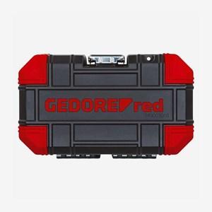 Jogo de Soquetes Sextavados 4 a 13mm Encaixe de 1/4 Pol.16 Peças R49003016 Gedore Red