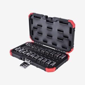 Jogo de Soquetes Tipo Tork com Encaixe de 3/8 e 1/2'' 20 Peças R68003020 Gedore Red