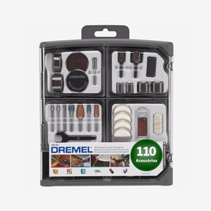 Kit Acessórios 709-RW2 Para Mini Retífica 110 Peças Dremel