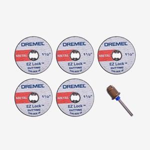 Kit com Adaptador e 5 Discos de Corte EZLOCK EZ406 Dremel