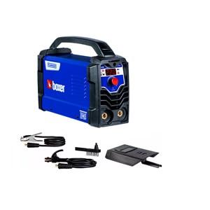 Máquina De Solda Inversora Flama 221 220V Boxer + Inversora de Solda Flama 201BV Boxer 200A BIVOLT + Máscara de Auto-Escurecimento 9 à 13 Retina 2.0 VR