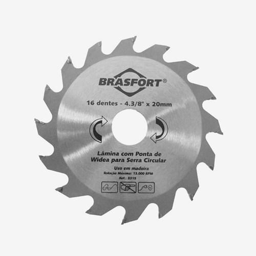 Serra Circular Widea 16 Dentes 4.3/8 x 20 Brasfort